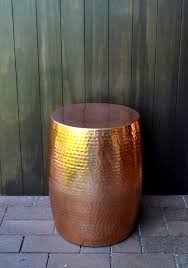 Drum Side Table Copper Drum Side Table