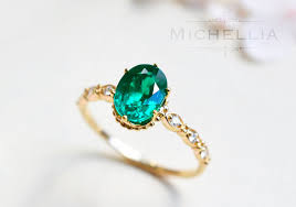 gold emerald engagement rings emerald oval engagement ring vintage inspired oval ring in