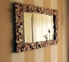 specchi con cornice specchio con cornice a mosaico in legno multi wood wanos wood