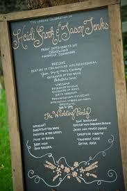 Chalkboard Wedding Programs 8 Unique U0026 Alternative Ways To Display Your Wedding Program