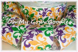 saints ribbon fleur de lis grosgrain fleur de lis gold grosgrain new orleans