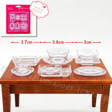 aliexpress com buy odoria 1 12 miniature 12pcs plate dish bowl
