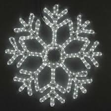 snowflake lights 24 led rope light snowflake cool white novelty lights inc