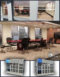 office building with conference room items 3d models and 3d