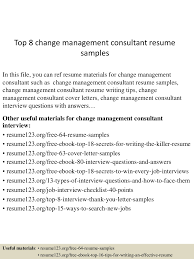 Consulting Resume Example Change Management Resume Examples Resume For Your Job Application