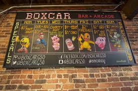 box car boxcar combines classic arcade games beer 1808greensboro