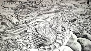 dragon angel u0026 warrior tattoo custom tattoo design youtube