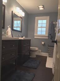 suburbs mama master bathroom reveal paint color is behr sterling