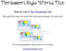 montessori geography activities free montessori world map
