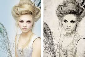 turn your photo into an artistic sketch drawing by paintings