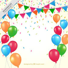 birthday balloons background birthday balloons and pennants vector free
