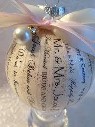 personalized wedding christmas ornaments unique and personalized wedding invitation vows keepsake ornament