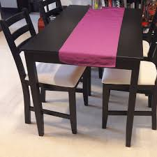ikea black brown dining table dining table lerhamn ikea black brown furniture tables chairs on