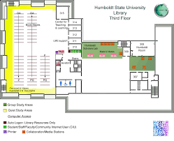 University Library Floor Plan Library Floor Maps Library Humboldt State University