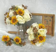 sunflower wedding bouquet sunflower bridal bouquet sunflower roses wedding bouquet silk