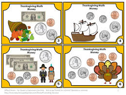 thanksgiving math activities counting money task card 2nd grade math
