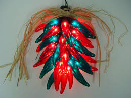 Chili Pepper Christmas Ornaments - chili ristra lights christmas novelty party lights