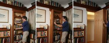 install a secret bookshelf door man made diy crafts