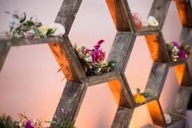 Wedding Backdrop Diy Romantic Diy Honeycomb Backdrop With Shelves Weddingomania