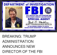 fbi bureau of investigation department of investigation fbi fbi this certifies that the