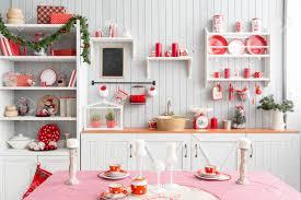 light grey kitchen interior light grey kitchen and red christmas decor preparing