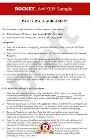 wall agreement create a party wall agreement template