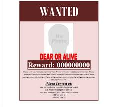 wanted signs templatewanted poster template wanted poster