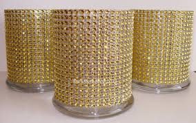 50th anniversary centerpieces glass cylinder vases gold bling wedding 50th anniversary