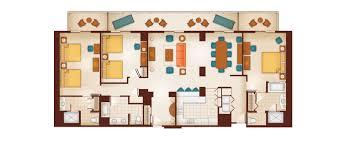 Boardwalk Villas One Bedroom Floor Plan by Disney World 3 Bedroom Villas