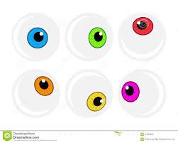 halloween eyeball vector symbol set colorful cartoon clipart