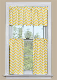 Blue And Yellow Kitchen Curtains Decorating Geometric Kitchen Curtain With A Chevron Design In Yellow And