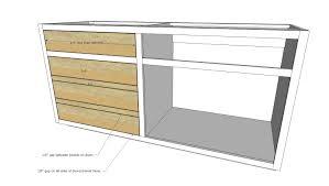 Kitchen Cabinet Plans Woodworking 4 Drawer Kitchen Cabinet Plans Monsterlune