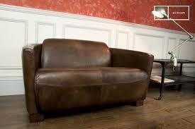 ledersofa vintage look vintage leather sofa industrial furniture pib