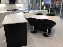 black u0026 white gloss contemporary kitchen in rochester ream