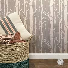 tree branches wallpaper wall stencils for painting diy wall