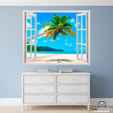 wall stickers palm tree on caribbean beach wall stickers palm tree on caribbean beach