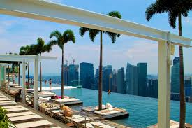 architecture exterior wonderful infinity rooftop swimming pool architecture exterior wonderful infinity rooftop swimming pool with beautiful palm tree and luxury sofa bed also