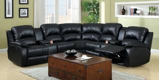 Black Leather Reclining Loveseat Sofa Reclining Loveseat With Console Cup Holders Beautiful Sofa