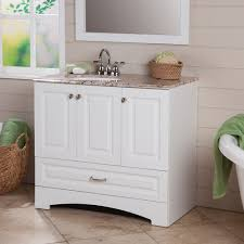 glacier bay stafford 36 in vanity in white with stone effects