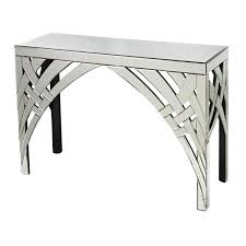 glass mirrored console table ribbons glass mirrored console