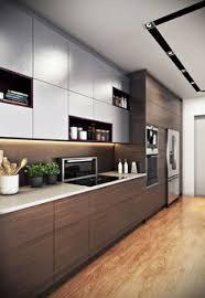 modern kitchen interiors une cuisine moderne tout en longueur brun http m habitat