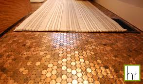 of our new bathroom is the penny floor made up of real pennies not