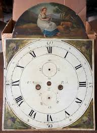 Antique Woodworking Tools Perth by Antique Painted Tall Clock Dial Marked Rt Menzies Perth With