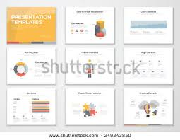 booklets templates grey business presentation slides templates stock vector
