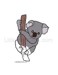crafts koala coloring