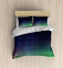 Duvet Cover Stars Galaxy Bedding Incredible Northern Lights Duvet Cover Colorful