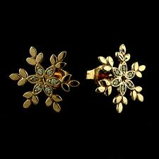 designer stud earrings designer diamond snowflake stud earrings 14k pink gold