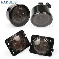 turn signal light assembly faduies 1set smoke lens front replacement turn signal light fender