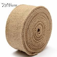 burlap ribbon wholesale kiwarm multi sizes jute hessian burlap ribbon rustic diy