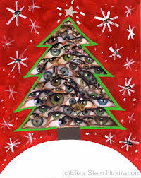 christmas tree collage card 5x7 blank xmas greeting card